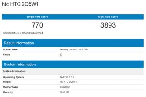 دستگاه جدید HTC در وب سایت GeekBench رویت شد.