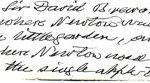 دست نوشته نیوتن